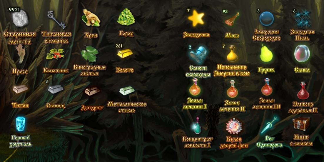 Котомка игрока для хранения инвентаря в игре Сказа. vskaze.ru