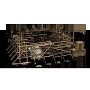 Строительные леса для закладки здания в игре Сказа. vskaze.ru