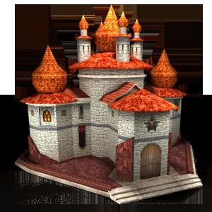Городское здание Монастырь в игре Сказа. vskaze.ru